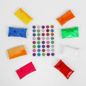 Аппликация шариковым пластилином серия морское дно «Улитка» 8 цветов по 4 г, подставка