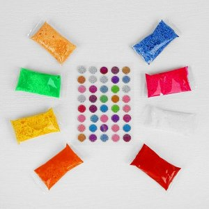 Аппликация шариковым пластилином серия морское дно «Рыбка» 8 цветов по 4 г, подставка