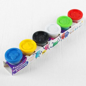 Набор для детского творчества «Тесто-пластилин», 6 цветов по 50 г
