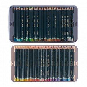 Карандаши художественные цветные Derwent Artists, 72 цвета (восковая структура), в металлической коробке
