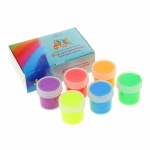 Краска акриловая, набор DecArt Fluo, 6 цветов по 20 мл, Экспоприбор
