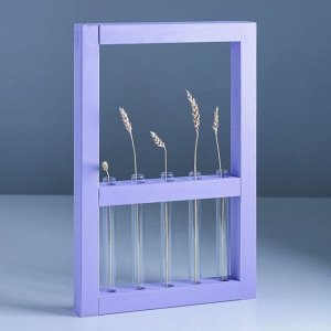 Рамка-ваза для цветов 30 х 45 см, сиреневая