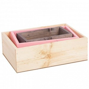 Набор деревянных ящиков 3 в 1 с шильдиком «Ты мое счастье», 30 см ? 21 см ? 12 см