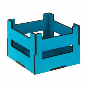 Ящик реечный, голубой, 16 х 16 х 12 см