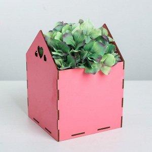 Кашпо флористическое, розовый, 15 ? 15 ? 20.5 см