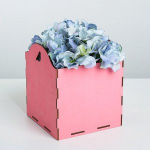 Кашпо флористическое, розовый, 15 ? 15 ? 16.8 см