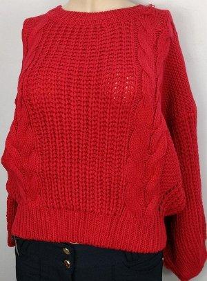 Свитер Старая цена 645 рублей. Стильный укороченный свитер крупной вязки. Размер 44-46