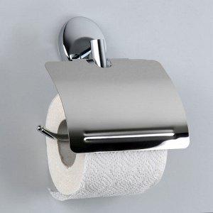 Держатель для туалетной бумаги с крышкой Accoona А11005, цвет хром