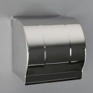 Держатель для туалетной бумаги, без втулки 12?12,5?12 см, цвет хром зеркальный
