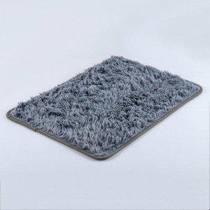 Коврик Доляна «Пушистик», 40?60 см, цвет серый