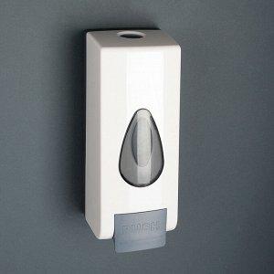Диспенсер для антисептика/жидкого мыла механический, 600 мл, пластик, цвет белый