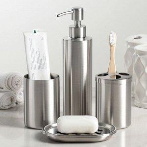 Набор аксессуаров для ванной комнаты, 4 предмета (дозатор, мыльница, 2 стакана)