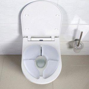 Сиденье для унитаза детское «Комфорт», 31?32 см, складное, цвет белый