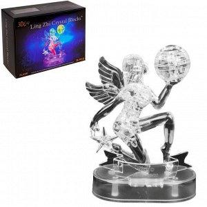 Пазл 3D кристаллический, «Знак зодиака Дева», 38 деталей, световые эффекты, работает от батареек