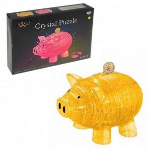 Пазл 3D кристаллический «Свинка-копилка», 94 детали, цвета МИКС