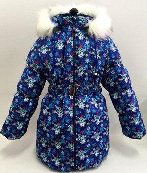 "Пальто зимнее для девочки КЗДМ-4 ""Алиса"" р-р 134-146,"