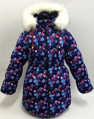 "Пальто зимнее для девочки КЗДМ-4 ""Алиса"" р-р 140,146,"