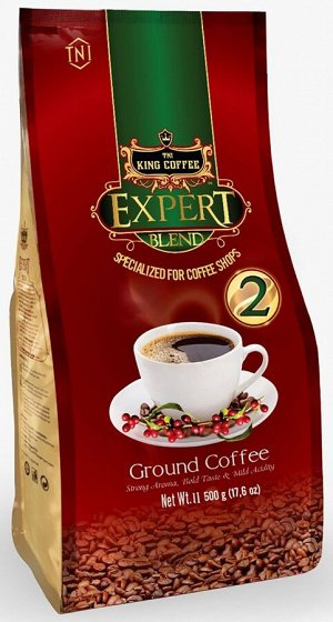 """Молотый кофе """"Expert №2"""" т.м. King Coffee, 500 гр,"""