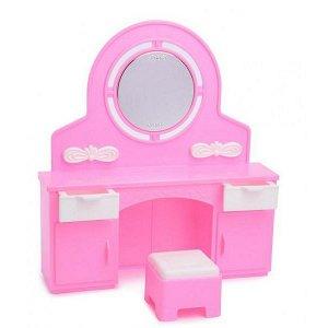 Мебель Трюмо с пуфом Розовые С-1386 Огонек