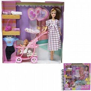 Кукла 8049 Беременная с ребенком с аксес. в кор. Defa Lusy