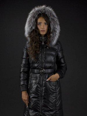 Пальто женское утеп. пух. SABRINA чернобурка (черный) Черный