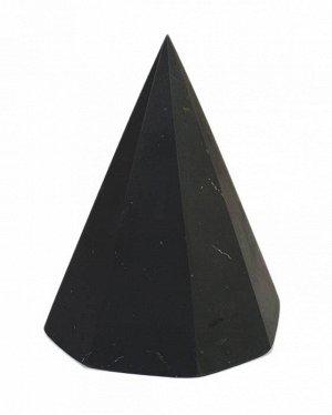 Пирамида из шунгита восьмигранная неполированная 5 см