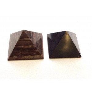 Гармонизатор пирамиды 5 см из шунгита и малинового кварцита