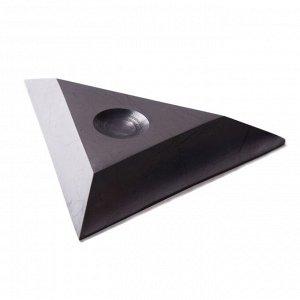 Подставка из шунгита под шар треугольная