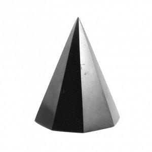 Пирамида из шунгита восьмигранная полированная 4 см