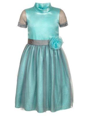 Платье приталенное с юбкой-солнце