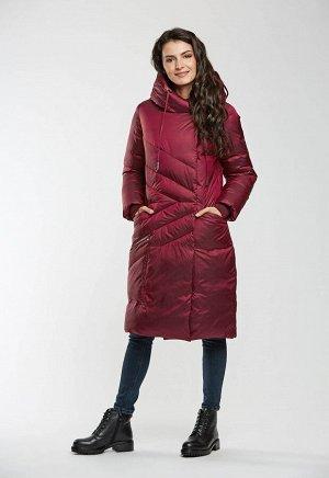 """Пальто """"Альбано""""  бордовый"""