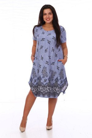Платье голубое (М-562)