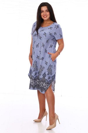 Платье Платье голубое (М-562). Кулирка (хлопок)