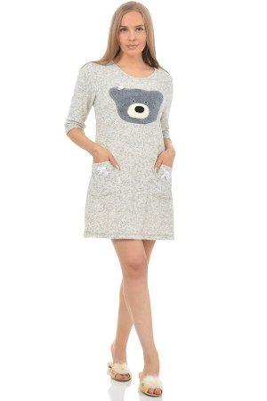 """Платье Платье """"Мишка"""" (М-336). Махра (хлопок + п\э)"""