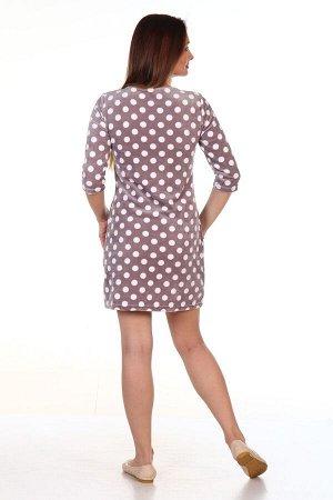 """Платье Платье """"Мишка"""" горошек (М-720). Велюр (хлопок + п\э)"""