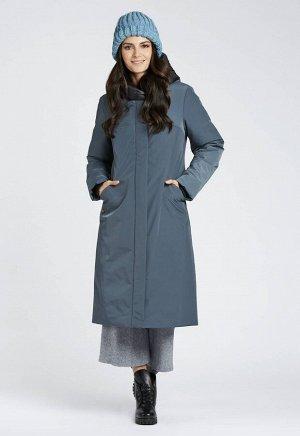 """Пальто """"Элодия""""  сине-зеленый"""