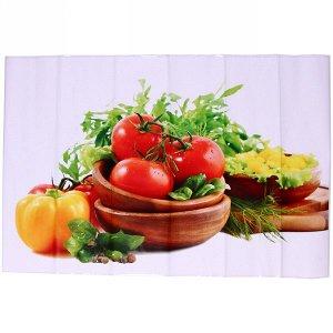 """Наклейка на кафельную плитку 60*90см """"Овощная тарелка"""""""