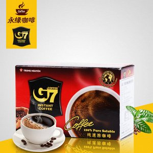 G7 Pure Black instant coffee- Box 15 sachets