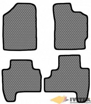 Ковры салонные Toyota Vitz  кузов 90, на авто 2005 - 2010годов -правый руль ,2WD