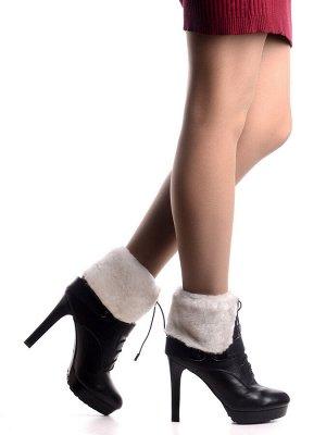 Ботинки Страна производитель: Китай Размер женской обуви x: 35 Полнота обуви: Тип «F» или «Fx» Сезон: Зима Материал верха: Натуральная кожа Материал подкладки: Натуральный мех Каблук/Подошва: Каблук В