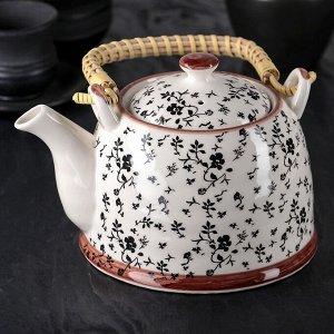 Чайник заварочный «Цветочная фантазия», 900 мл, с металлическим ситом