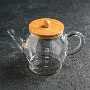Чайник заварочный с металлическим ситом «Эко. Бабл», 800 мл, 22?12,5?15 см