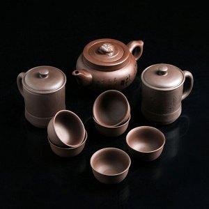 """Набор для чайной церемонии 9 пр """"Дракон"""" чайник 200 мл,6 пиал 40 мл, 2 кружки 200 мл"""