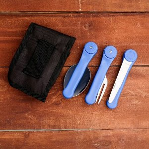 Набор туриста в чехле 3в1 Мастер К рукоять синяя пластик