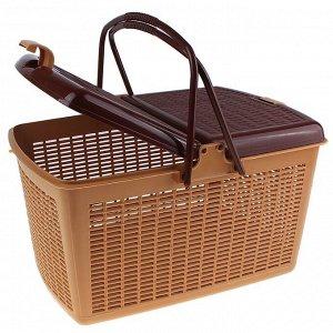 Корзина для пикника, светло-коричневая