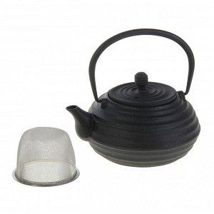 Чайник с ситом «Атьяф», 700 мл, цвет чёрный