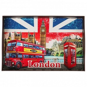 """Поднос с ручками """"Лондон"""", деревянный, 30,4х20,4х4,7см"""