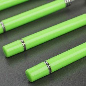 Набор столовых приборов «Хэнди», 24 предмета, на пластиковой подставке, цвет зелёный
