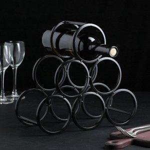 Подставка для бутылки Доляна «Моно», 31,5?28,5?12,5 см, цвет чёрный