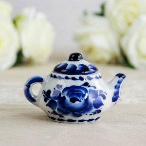 Чайник «Сувенирный», 4x4x6 см, гжель